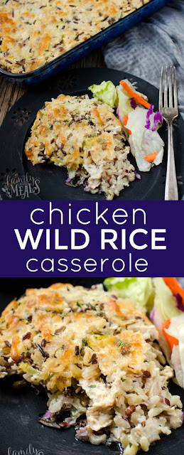 CHICKEN & WILD RICE CASSEROLE