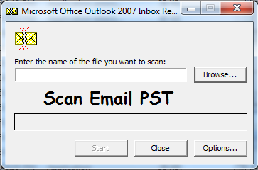 Cara Memperbaikan Data Scan Email Pst Outlook 2007 Di Drive D