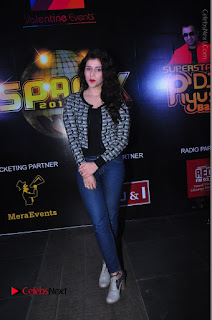 Actress Mannara Chopra Stills in Jeans at Sparx 2017 Curtain Raiser Event  0193.JPG