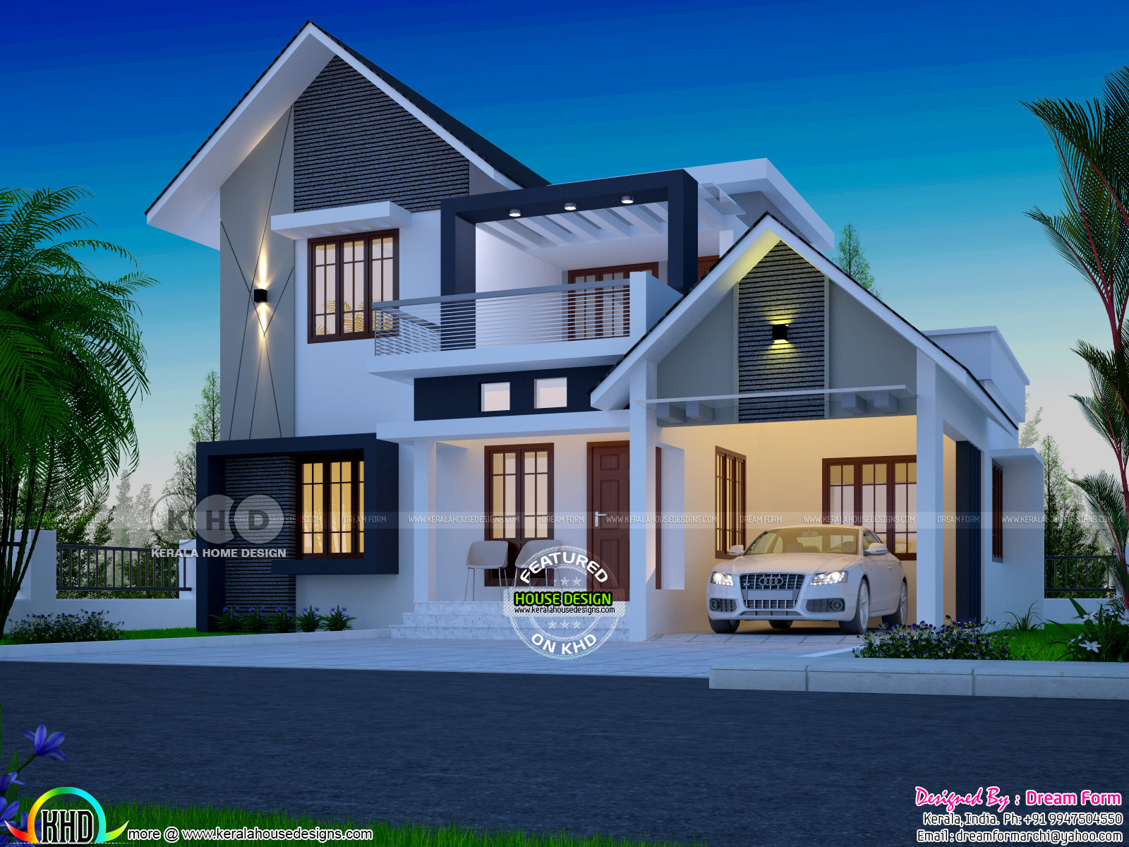 latest house designs 1750 square feet 4 bedroom double floor new modern home 1722 square feet 4 bedroom cute double storied house. Cute double storied modern  home ...