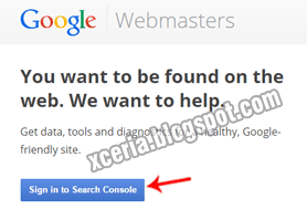 Daftar Google Webmaster - Sign in