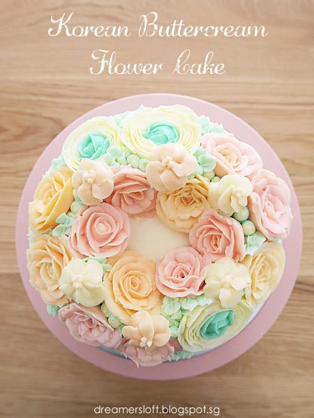 Meg's Pastry Studio: Korean Buttercream Flower Cake