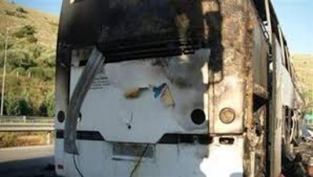 Γιάννενα: Φωτιά σε λεωφορείο της Αστυνομίας στην Ιονία οδό που κατευθύνονταν στα Γιάννενα