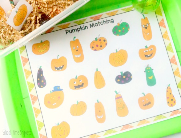 pumpkin matching printable