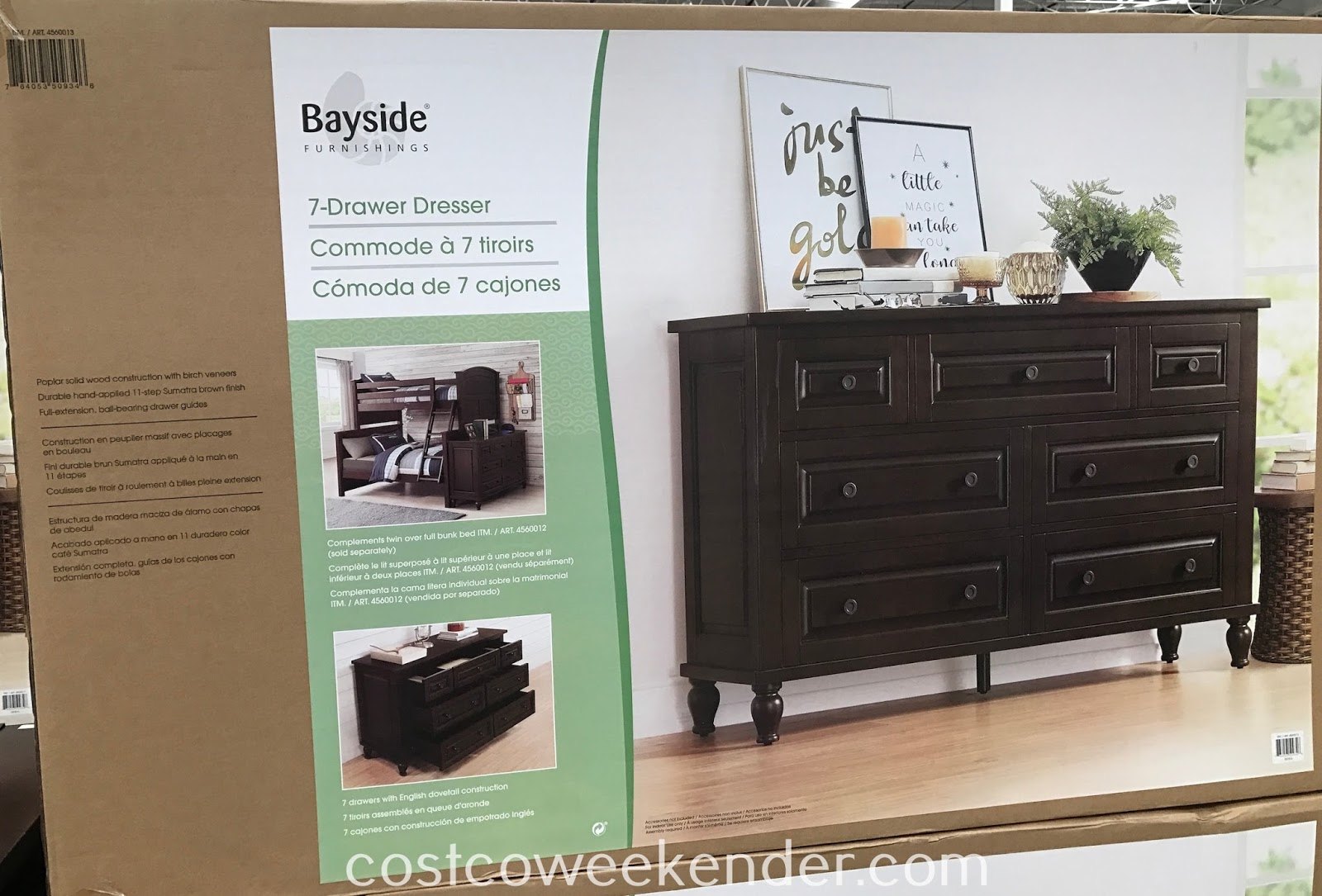 Costco 4560013 - Bayside Furnishings 7-Drawer Dresser: great for any bedroom