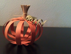 Paper Pumpkin Table Decoration