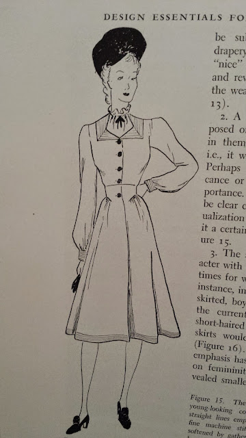 40s fashion illustration, from the book The Arts of Costume and Personal Appearance, Grace Margaret Morton, 1943