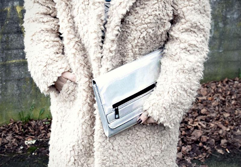 Ü40 Fashionblog, Teddyfellmantel, Beiger Teddyfellmantel