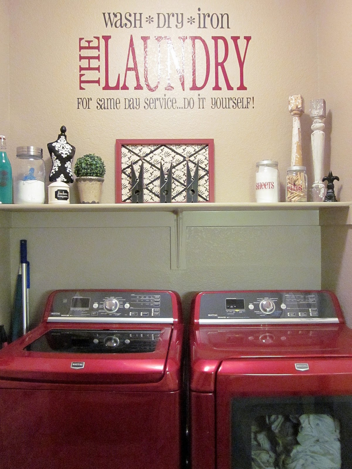 Decorative Laundry Items Adorable Antics Laundry Room Decorations On No Budget