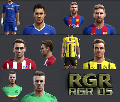 PES 2013 Amazing Facepack by Rgr DS