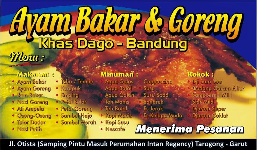Contoh Banner Ayam Goreng Jual Desain Banner Editable