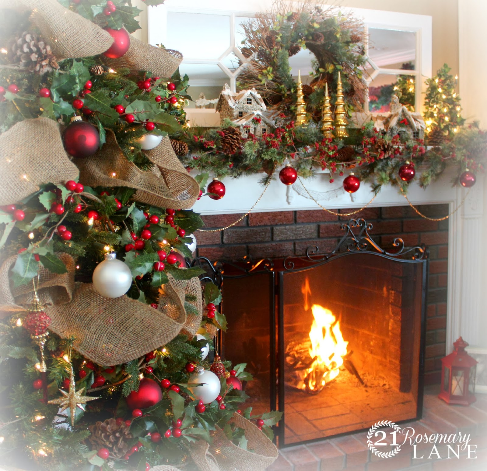 21 Rosemary Lane: 2013 Christmas Mantel