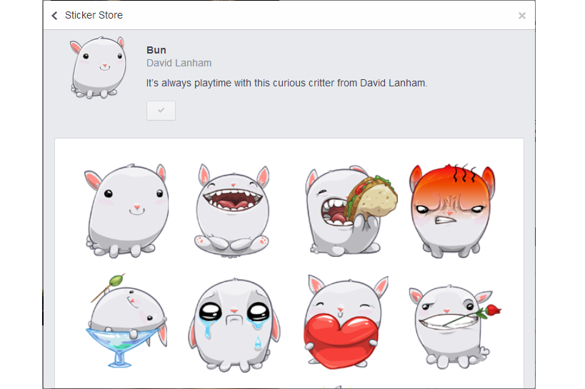 Chat Stickers Bun