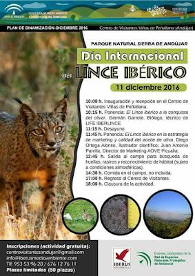 cartel del 2º Día Internacional del Lince Ibérico. Sierra de Andújar. Diego Ortega Alonso