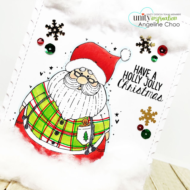 ScrappyScrapy: [NEW VIDEOS] A cat, a dog and Santa with Unity Stamp - Jolly Ol Santa #scrappyscrappy #unitystampco #quicktipvideo #youtube #copicmarkers #christmascard #christmascard #holidaycard #jollyolsanta #santaclaus #christmas