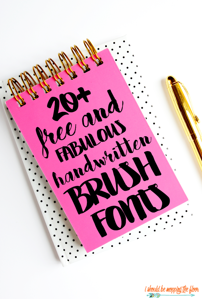 These 20+ Free Handwritten Brush Fonts are perfect for just about anything. Use them for printables, framable quotes & art, vinyl, crafts, and more. They're so swirly, twirly, and just plain lovely.