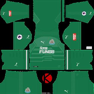Newcastle United FC 2018/19 Kit - Dream League Soccer Kits
