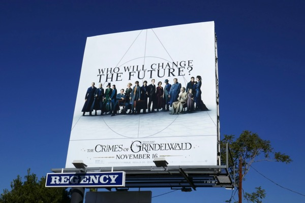 Fantastic Beasts Crimes of Grindelwald billboard