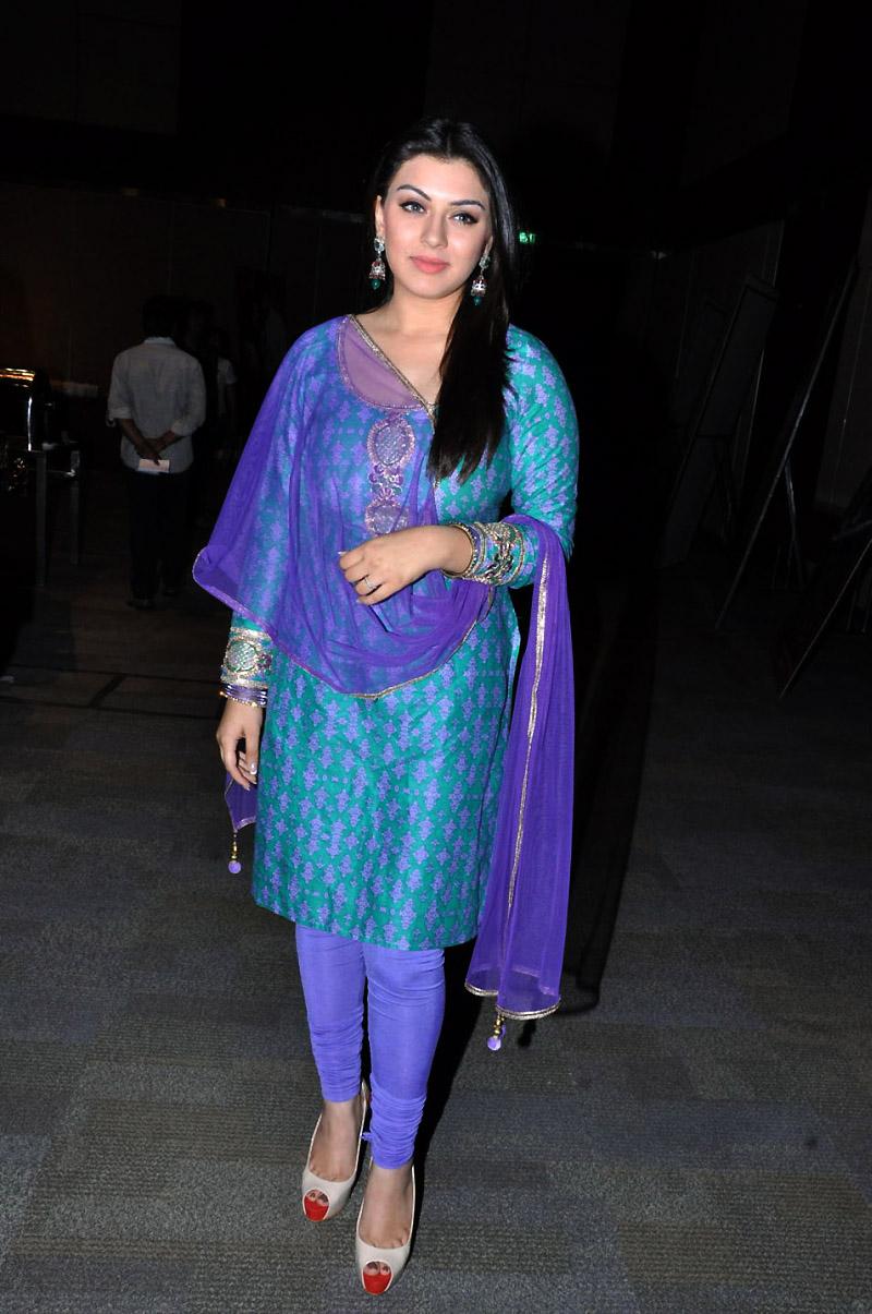 Hansika at ok ok launch in salwar kameez