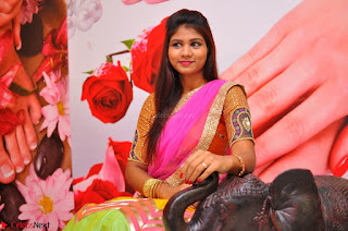 Lucky Sree in dasling Pink Saree and Orange Choli DSC 0341 1600x1063.JPG