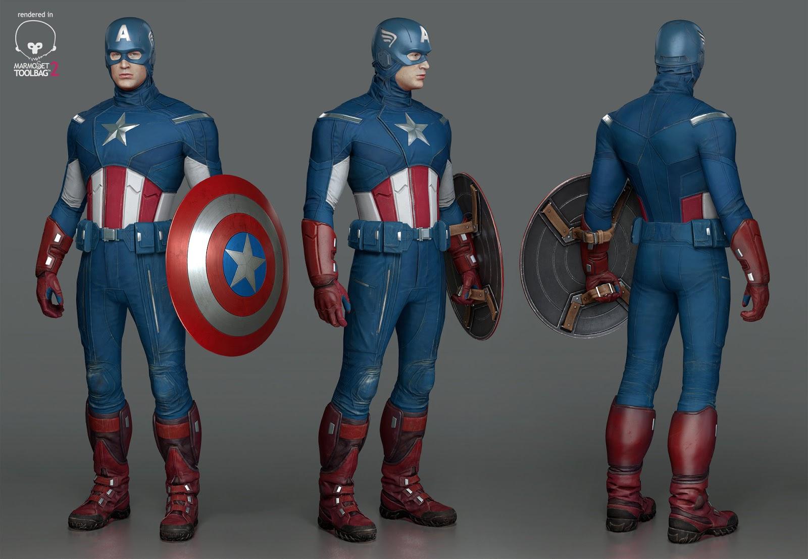 Model 027 Captain America Avenger Free Model 3d