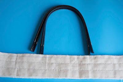 Asas bolso de tela. Patchwork, costura