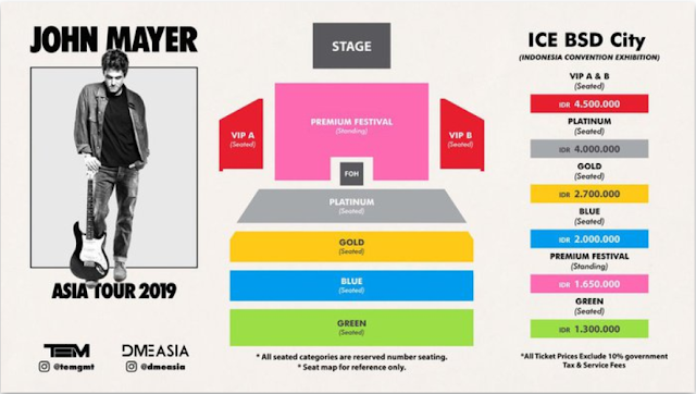 Tiket John Mayer Indonesia