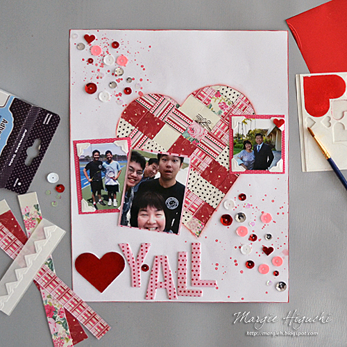 Scrapbook Adhesives by 3L: Creating a Woven Heart Valentine Scrapbook Page