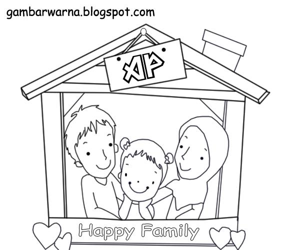 Gambar Mewarnai Keluarga Muslim Related Keywords Suggestions