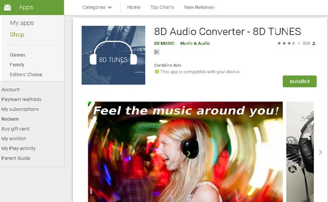 8D audio converter android