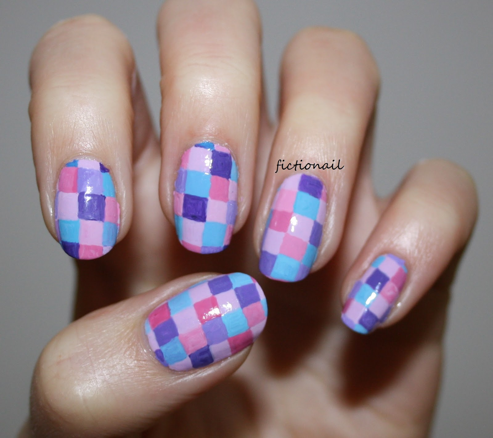 Patchwork colour block nails prinsesfo Image collections