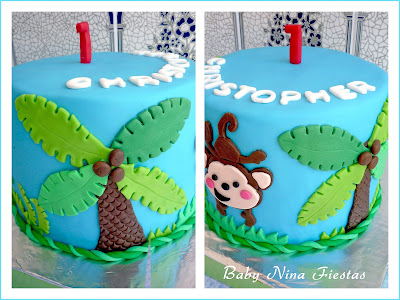 tarta cute monkey