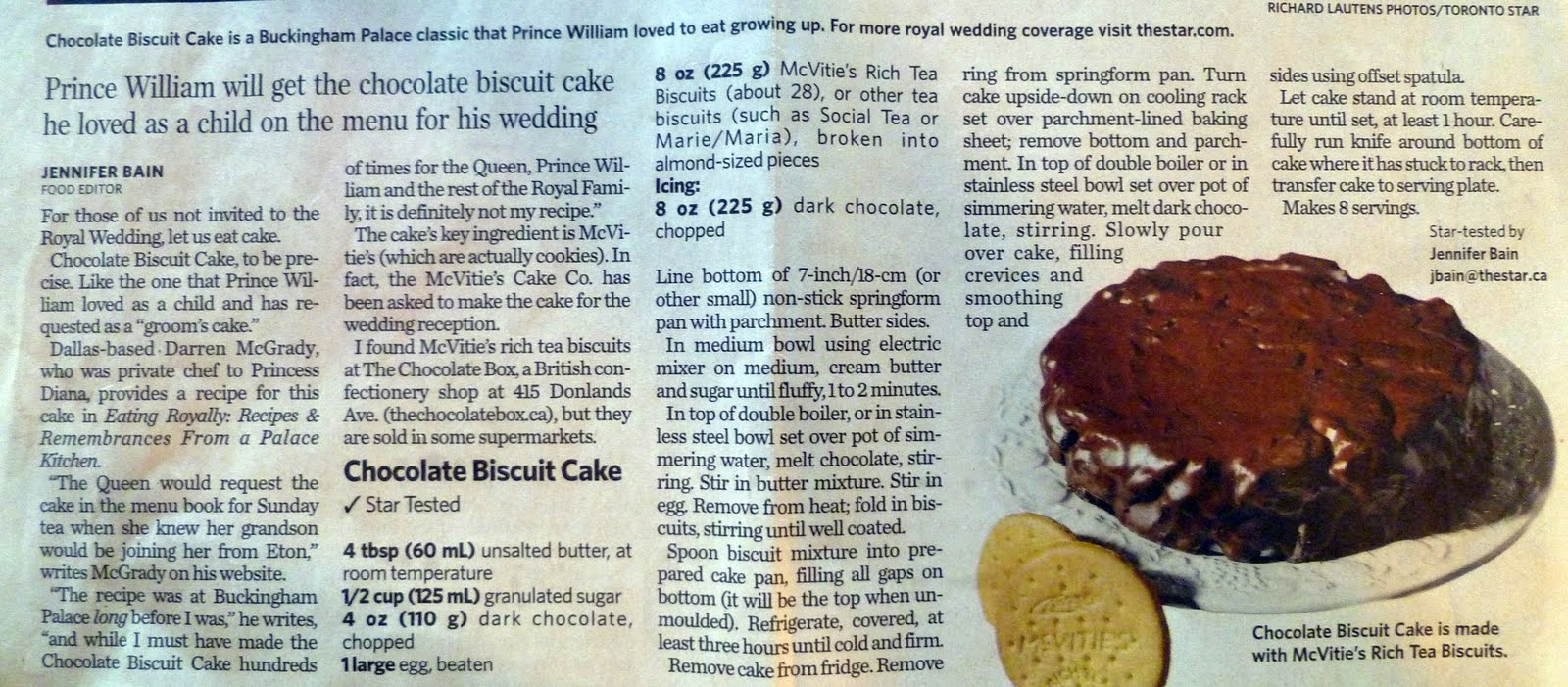 prince william biscuit wedding cake recipe sense and simplicity prince william s chocolate biscuit cake 18787