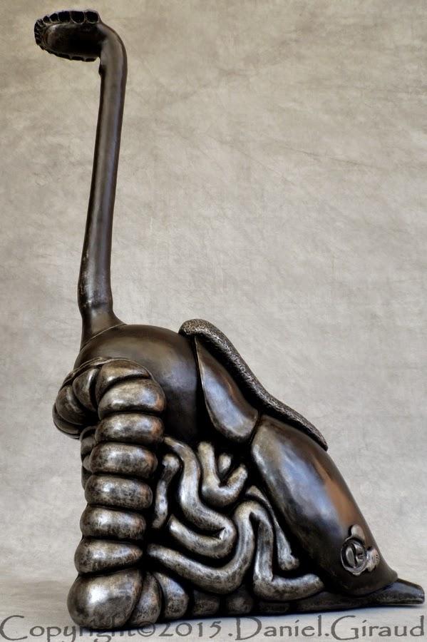 Daniel Giraud sculpture appareil digestif