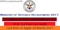 Ministry of Defence Recruitment 2017-For Various Officer Post