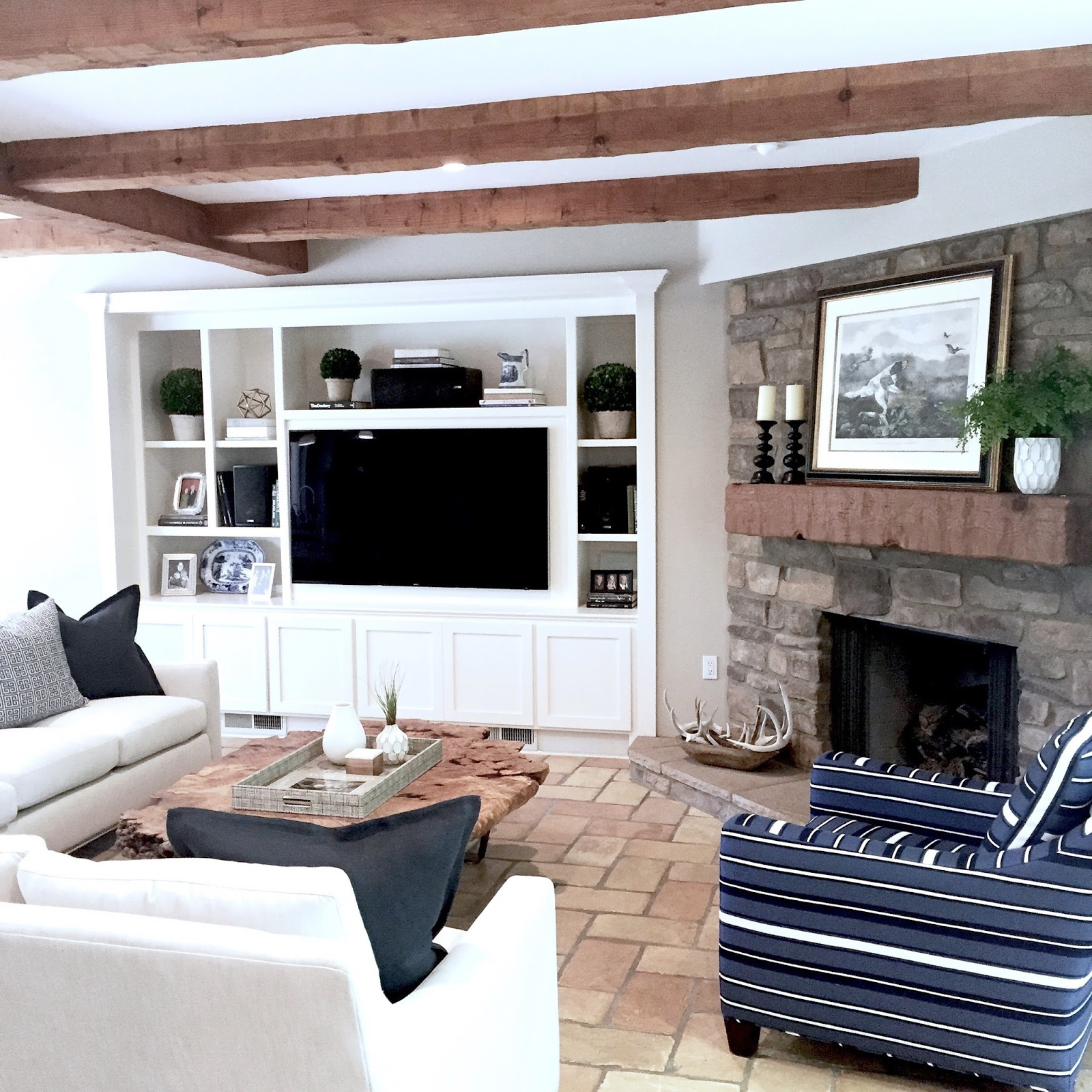 Modern Farmhouse Family Room: Modern Farmhouse Family Room Before/After