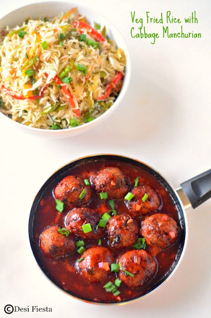 Fried rice with manchurain Recipe