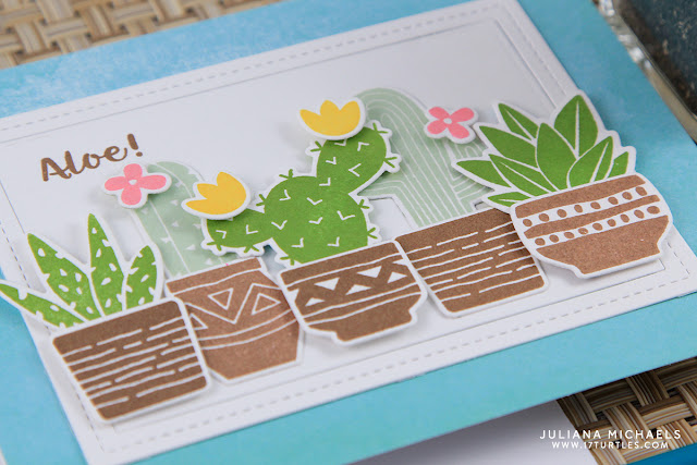 Aloe Hello Cactus Card by Juliana Michaels featuring Newton's Nook Designs Cultivated Cacti
