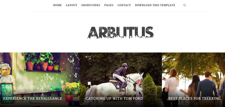 Arbutus Responsive Blogger Template