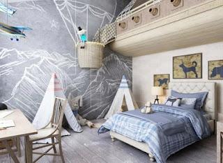 dormitorio niño aventurero