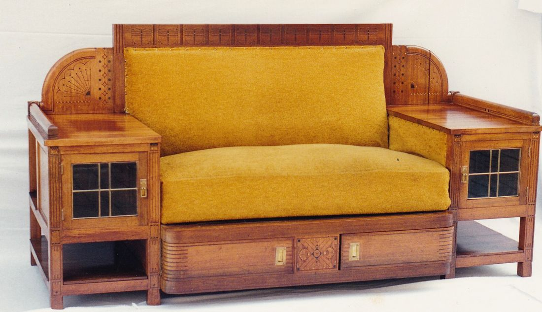 Jugendstil sofa best jugendstil sofa couch vintage with for Sofa jugendstil