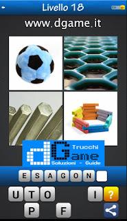 Trova la Parola - Foto Quiz con 4 Immagini e 1 Parola pacchetto 1 soluzione livello 18