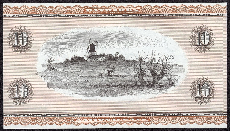 10 Danish Kroner note 1936 windmill
