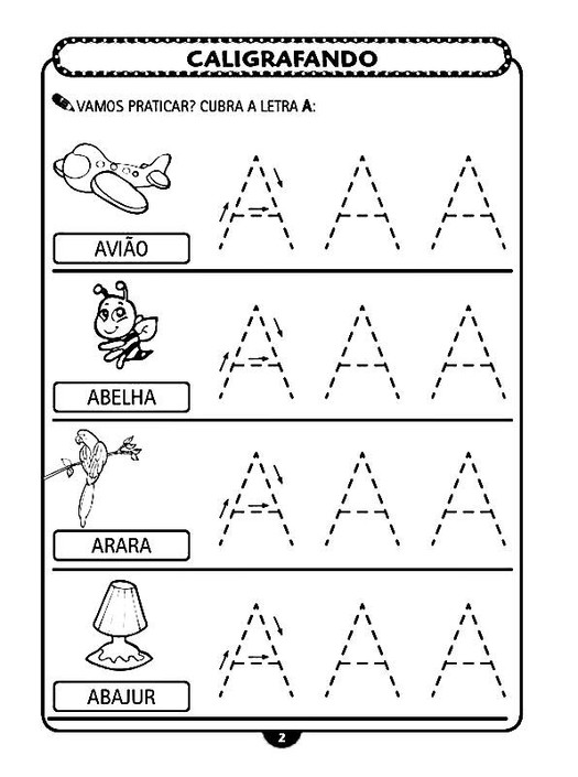 Professores Atividades De Caligrafia Sobre Alfabeto