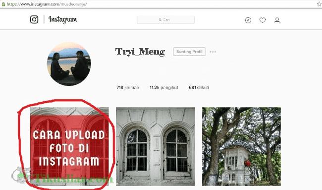 Cara Upload Foto di instagram lewat PClaptopTerbaru