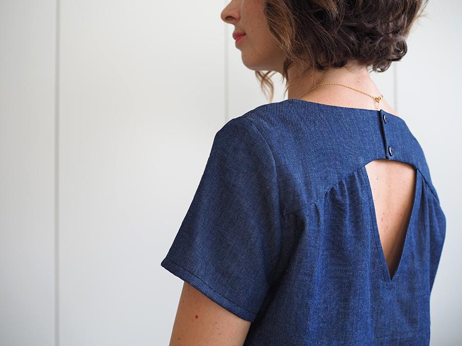 J ai opté pour la version blouse manches courtes afin de la porter tout de  suite, il fait encore un temps splendide ici à Bayonne ! 6e6e77ed8bf1