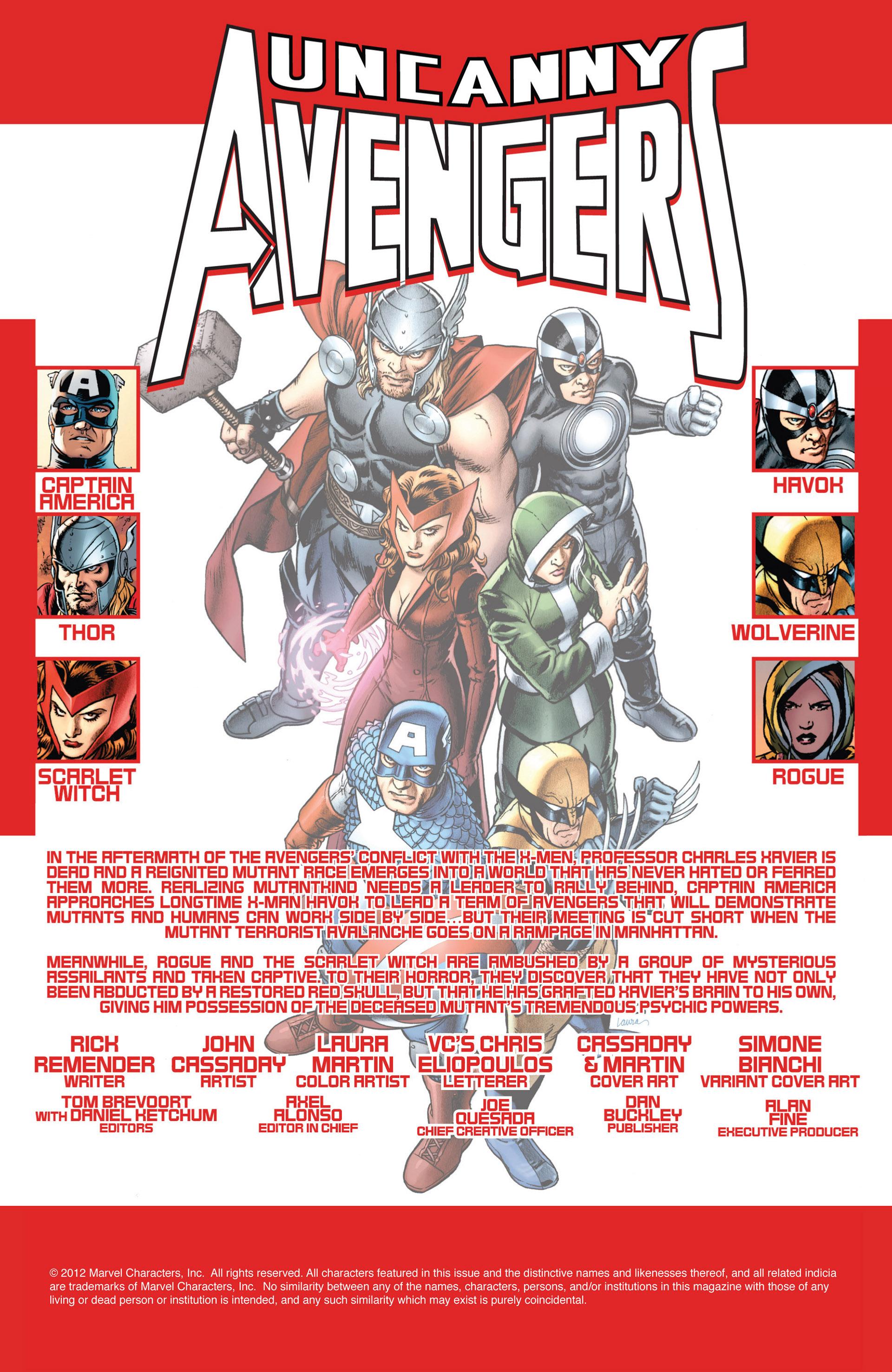 Read online Uncanny Avengers (2012) comic -  Issue #3 - 2