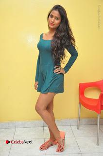 Telugu Actress Prasanthi Stills in Green Short Dress at Swachh Hyderabad Cricket Press Meet  0101.JPG