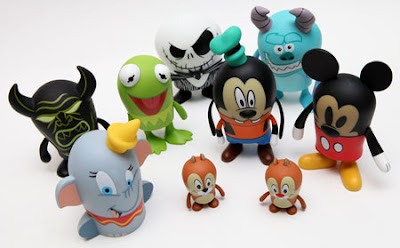 Popcorns Vinylmation Series 1 by Disney - Chernabog, Dumbo, Kermit the Frog, Chip & Dale, Jack Skellington, Goofy, Sulley & Mickey Mouse Vinyl Figures