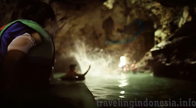 River in the Cave Indonesia